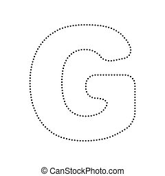 Letter G Sign Design Template Element Vector Black Dotted Icon On White Background