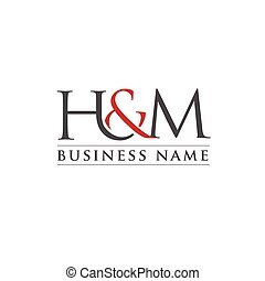 Letter H and M logo vector illustration template, letter H&M...