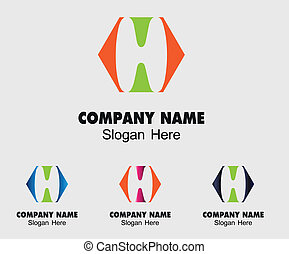Letter H Company logo icon template
