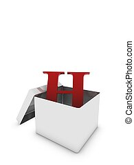 letter h in box