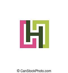 letter H logo design vector