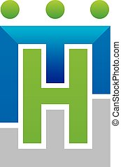Letter H M W Teamwork Modern