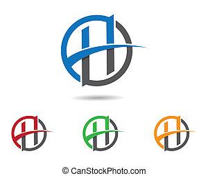 Letter h symbol illustration