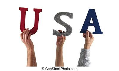 Letter Hands USA