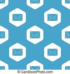 Letter hexagon pattern
