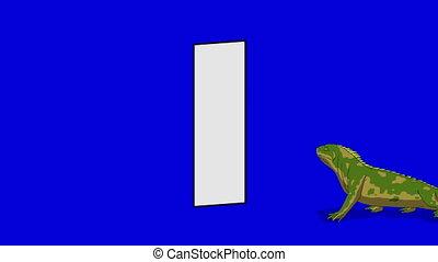 Letter I and Iguana (foreground) - Animated animal alphabet....