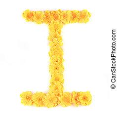 Letter I flower alphabet.