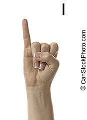 Letter I in ASL - Finger Spelling the Alphabet in American...