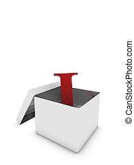 letter i in box