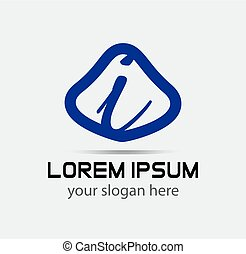 Letter I logo design template