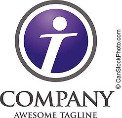 letter I logo icon