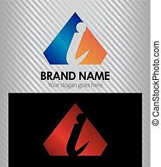 Letter I logo vector alphabet shape