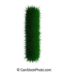 letter I made of grass