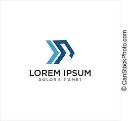 Letter I P Arrow Logo Icon Design Concept Template. Monogram Alphabet Initial P I Logo Business