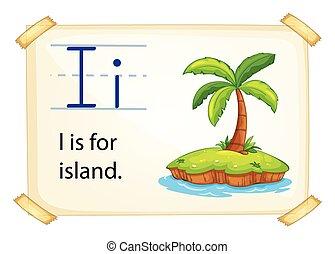 Poster of an alphabet I