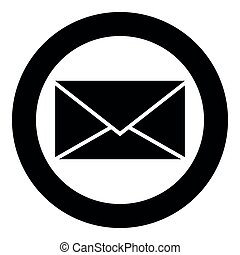 Letter icon black color vector illustration simple image