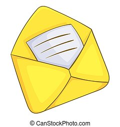 Letter icon, cartoon style