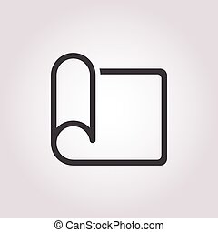 letter icon on white background