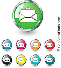Letter icon vector set