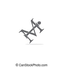 letter im linked overlapping fashion logo vector