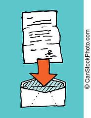 Letter in envelope / Attach