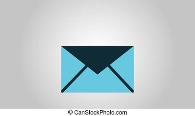 Letter in envelope HD animation - Letter inside envelope...