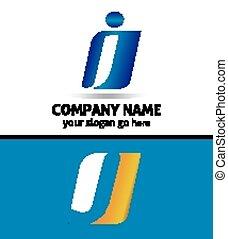 Letter J Company logo icon template