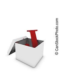 letter j in box