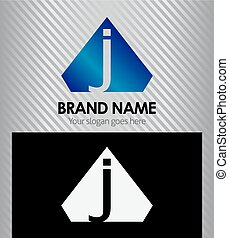 Letter J logo vector alphabet shape