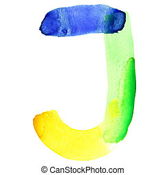 Vivid watercolor alphabet