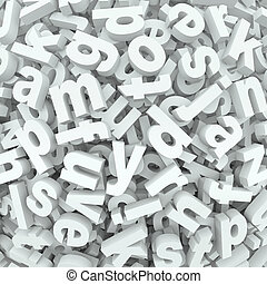 Letter Jumble Background Alphabet Words Spilled Mess - Many...