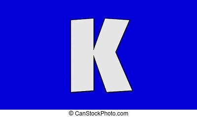 Letter K and Kangaroo (background) - Animated animal...