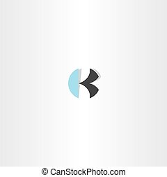 letter k circle logo sign element