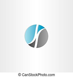 letter k in circle logo design vector icon