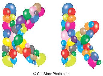 letter k like a balloon