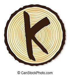 Letter K Log End