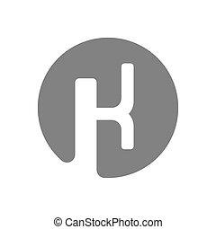 Letter K Logo Concept Icon. Vector