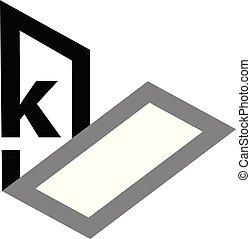 Letter K Logo Design Template Vector