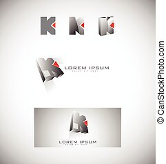 Letter k logo icon set
