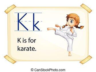 Letter K - Poster of an alphabet K