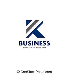 Letter K stripes logo design vector illustration template,...