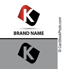 Letter K Vector elegant alphabet