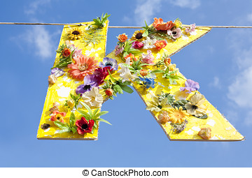 Letter K with Flowers