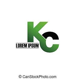 Letter KC simple monogram logo icon design. initial logo vector illustration.