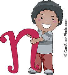 Letter Kid N