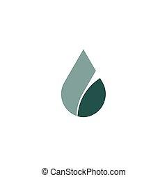 letter l water drop icon logo element
