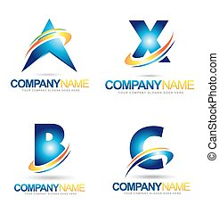 Letter Logo Designs. Creative abstract vector letter icons...