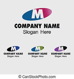 Letter M alphabet logo vector