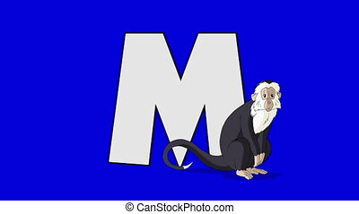 Letter M and Monkey (foreground) - Animated animal alphabet....