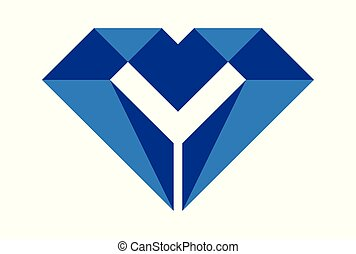 letter m diamond logo